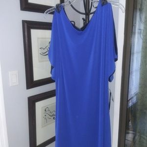 Cocktail dress with peek a boo shoulders